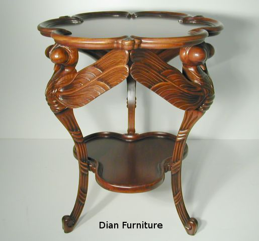 Art Nouveau Dragonfly Table by Galle