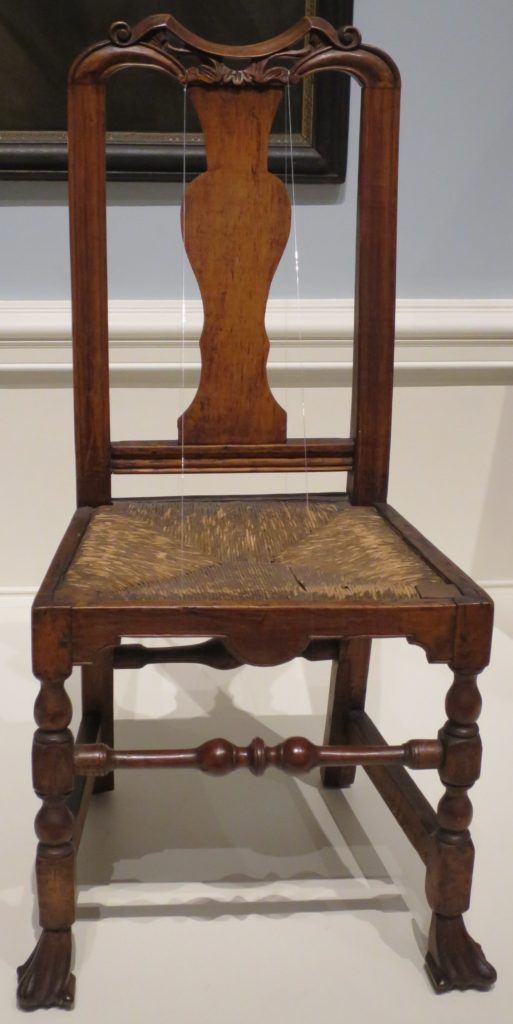 American Queen Anne style side chair made by John Gaines III c. 1724-43, maple _Dayton Art Institute